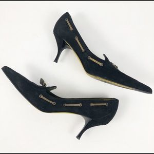 Donald J. Pliner couture pointed heel shell detail